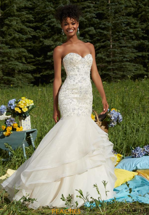 Mori Lee Long Organza Dress 99021