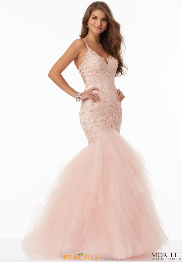 Mori Lee Lace Mermaid Dress 99044