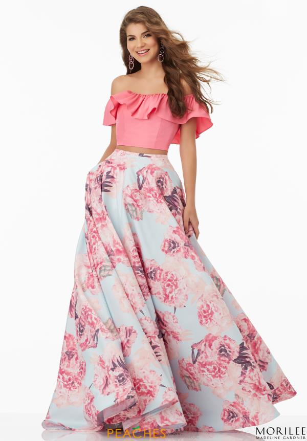 Mori lee dress 99045 for Mori lee pink wedding dress