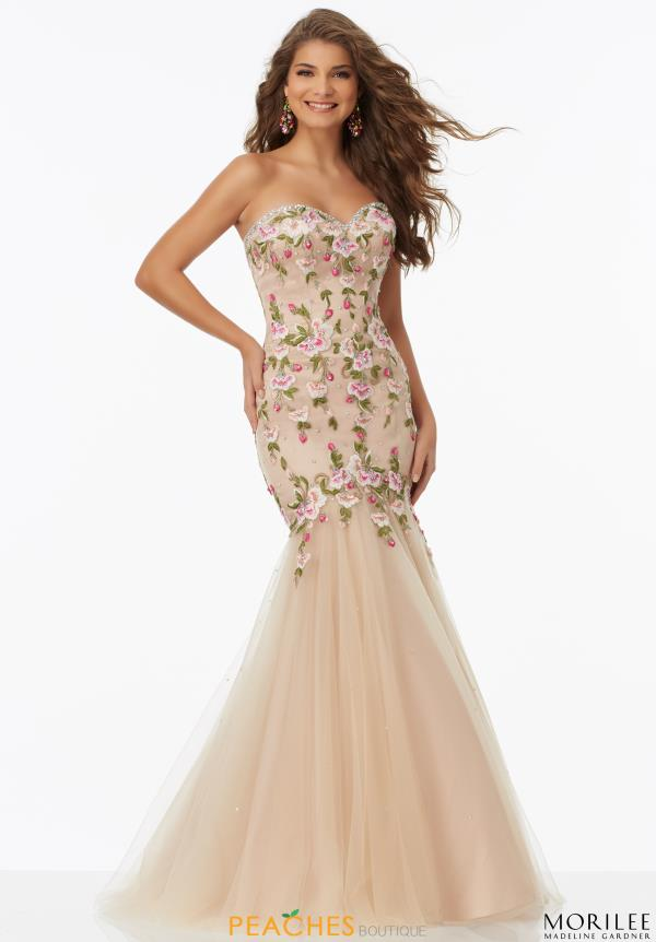 Mori Lee Floral Mermaid Dress 99051