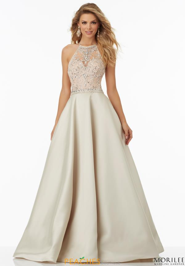 Mori Lee A Line Plus Beaded Dress 99062