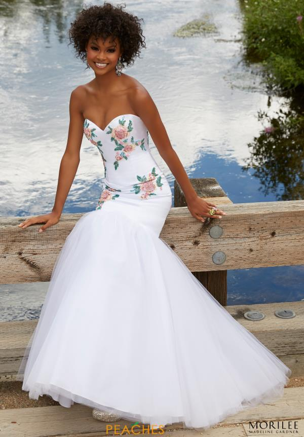 Mori Lee Floral Mermaid Dress 99073