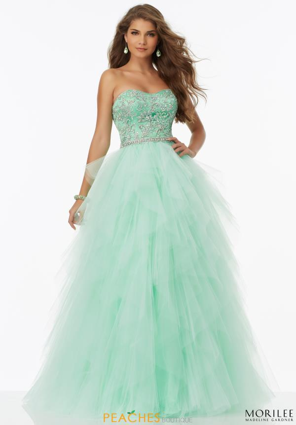 Mori Lee Strapless A Line Dress 99086