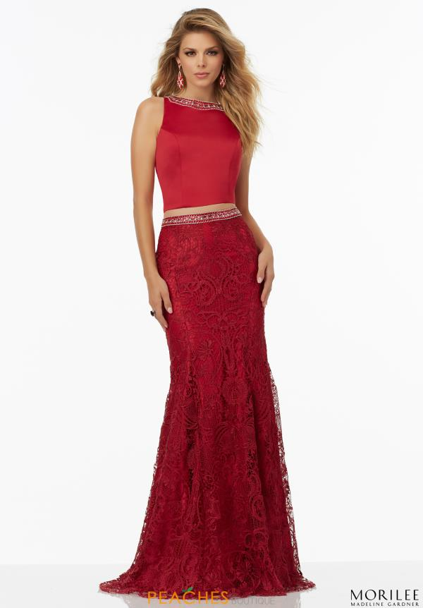 MoriLee Lace Red Two Piece Dress 99110