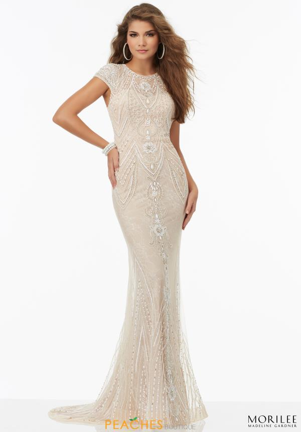 Beaded Long Mori Lee Dress 99113