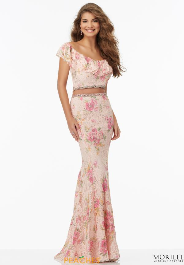 Lace Long MoriLee Dress 99119