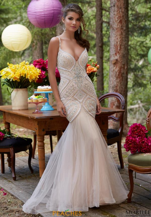 Mori Lee Beaded Long Dress 99122