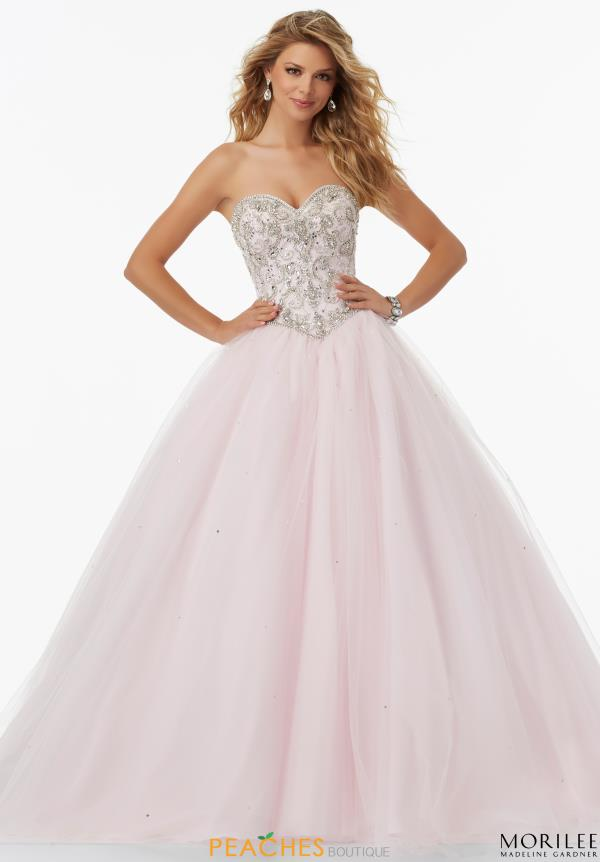 MoriLee Beaded Ball Gown 99123