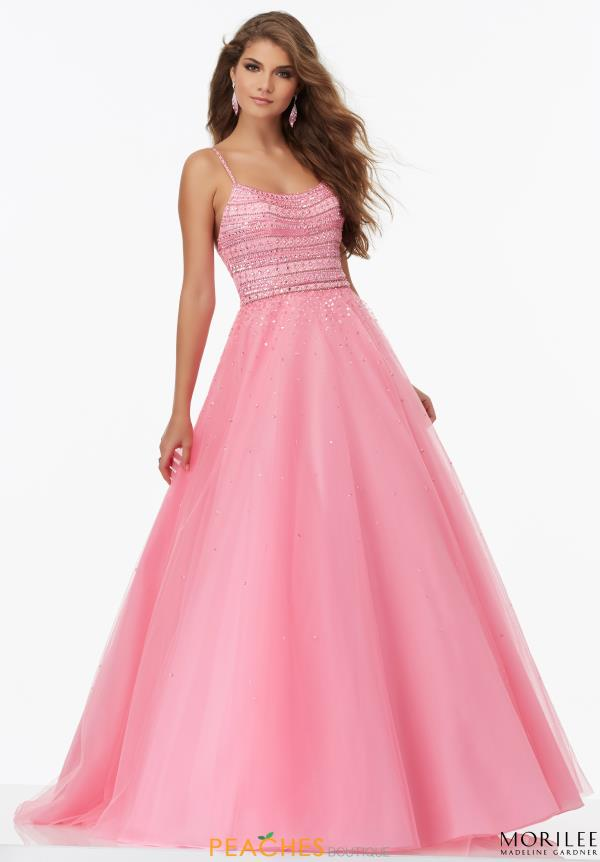Mori Lee Tulle A Line Dress 99126