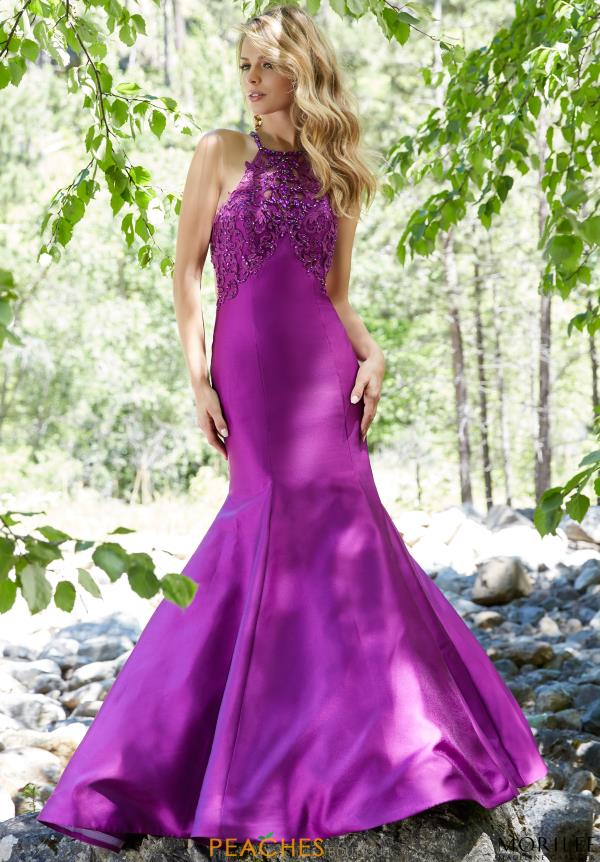 Long Satin Mori Lee Dress 99133