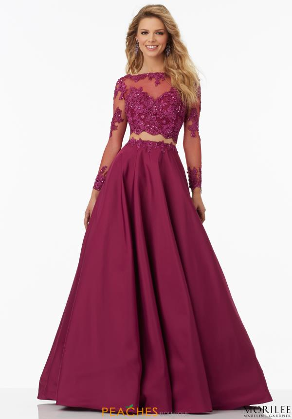 Mori Lee Long A Line Dress 99135