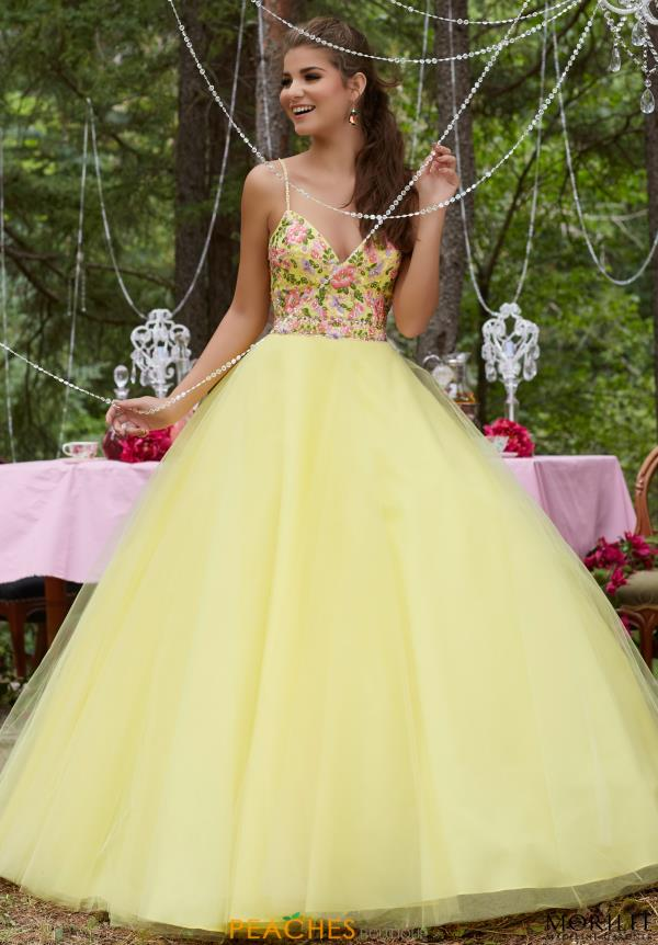 Mori Lee Floral A Line Dress 99136