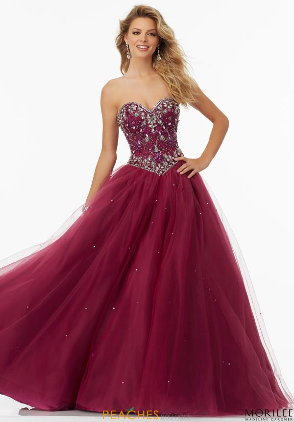 Mori Lee Beaded Ball Gown 99154