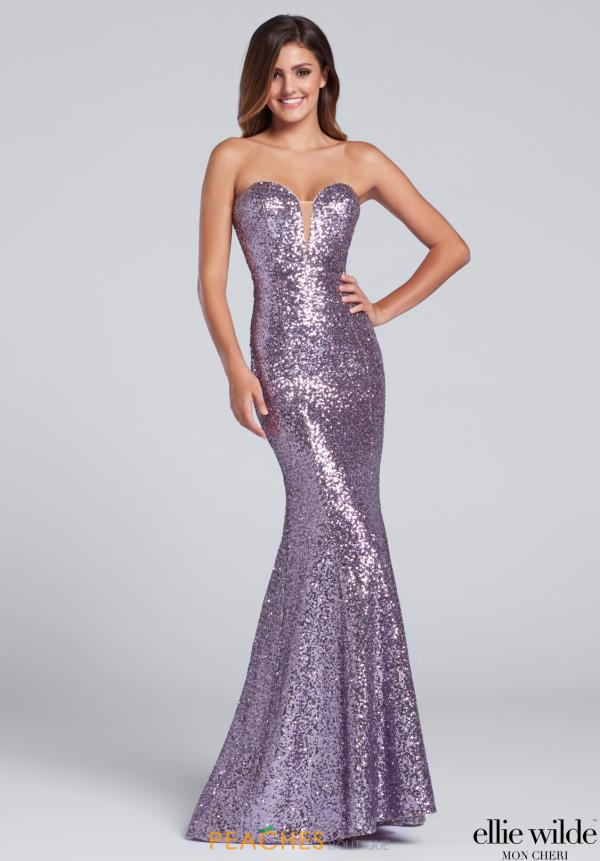 Strapless Fitted Ellie Wilde Dress EW117033