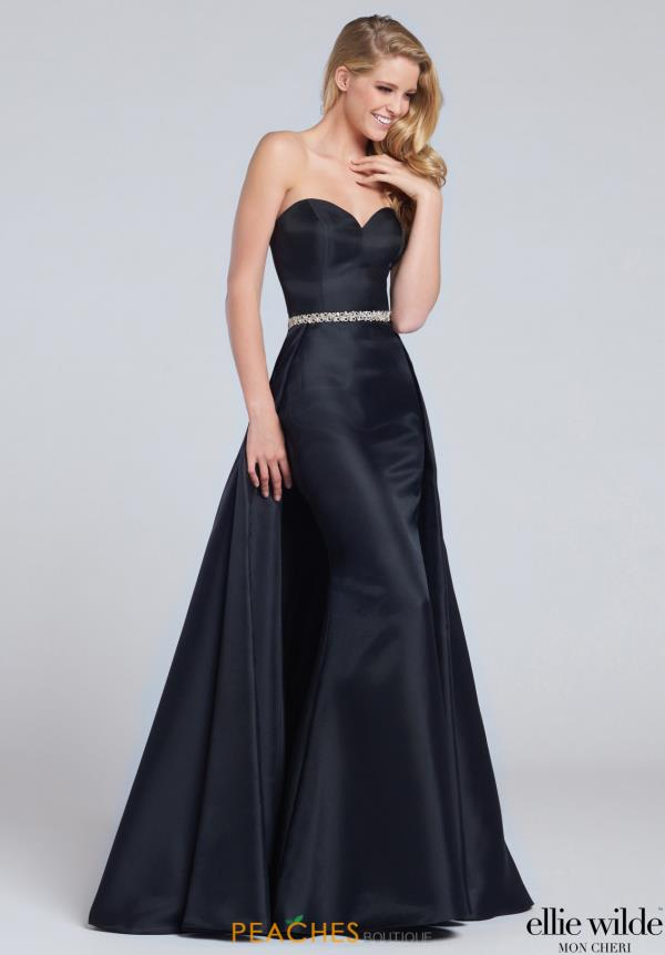 Ellie Wilde Long Fitted Dress EW117051
