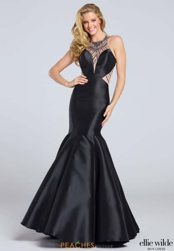 Ellie Wilde Fitted Long Dress EW117059