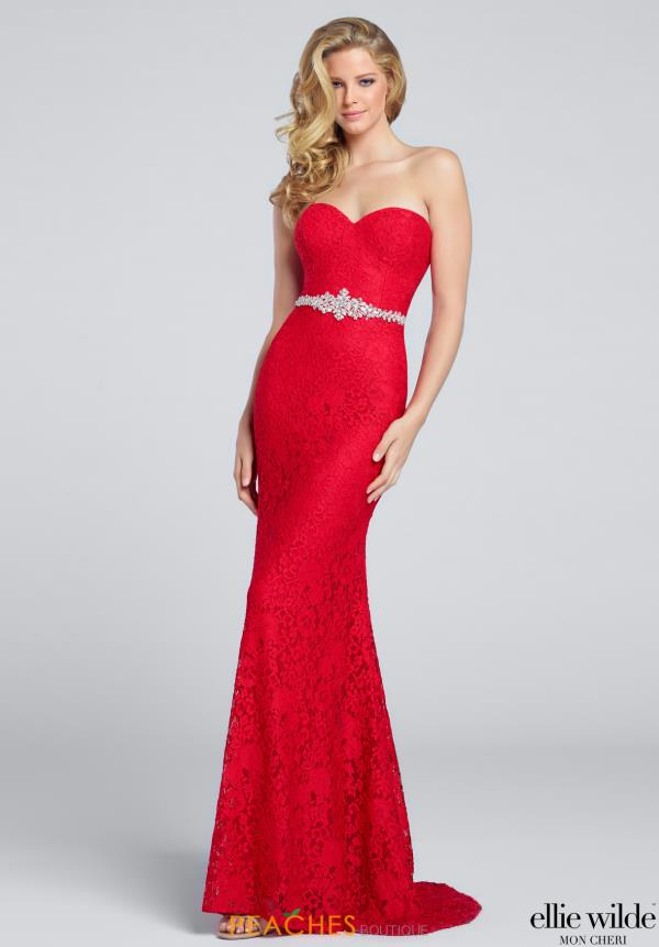 Ellie Wilde Fitted Long Dress EW117163