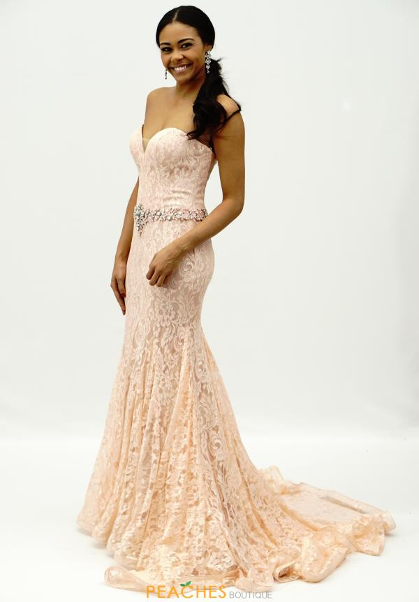 Strapless Beaded Alyce Paris Dress 6502