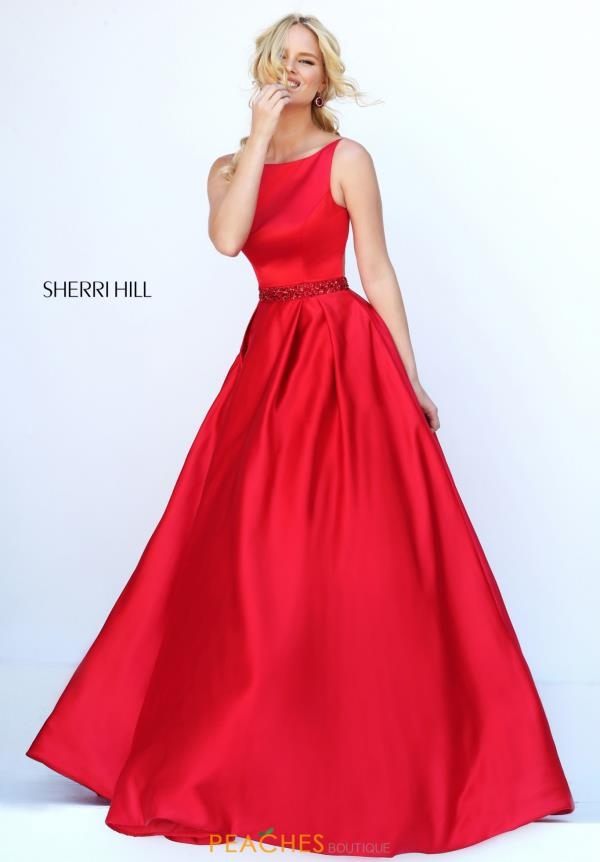 Long A Line Sherri Hill Dress 50502