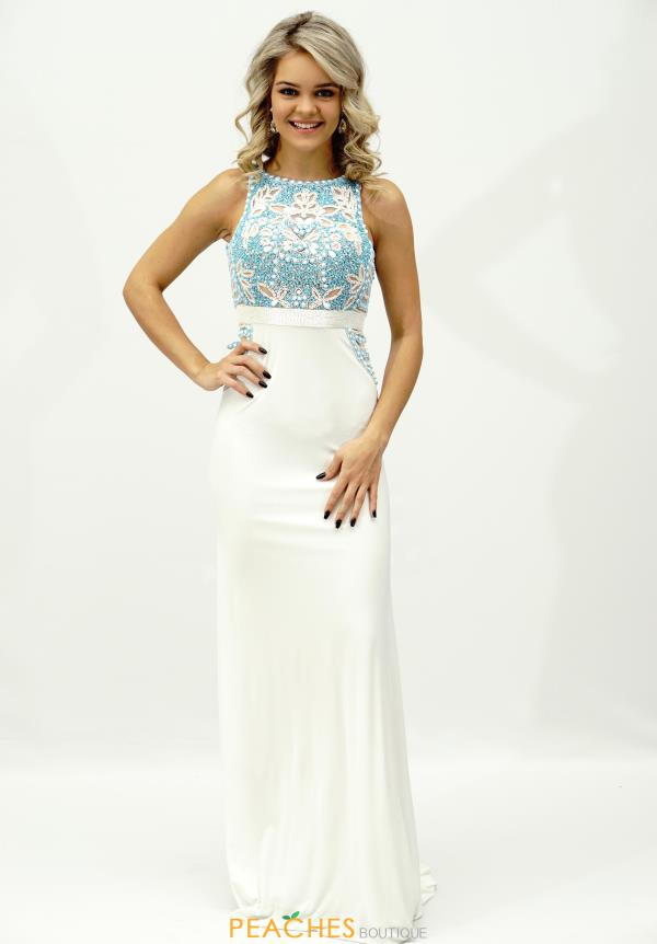 Sherri Hill High Neckline Beaded Dress 50213