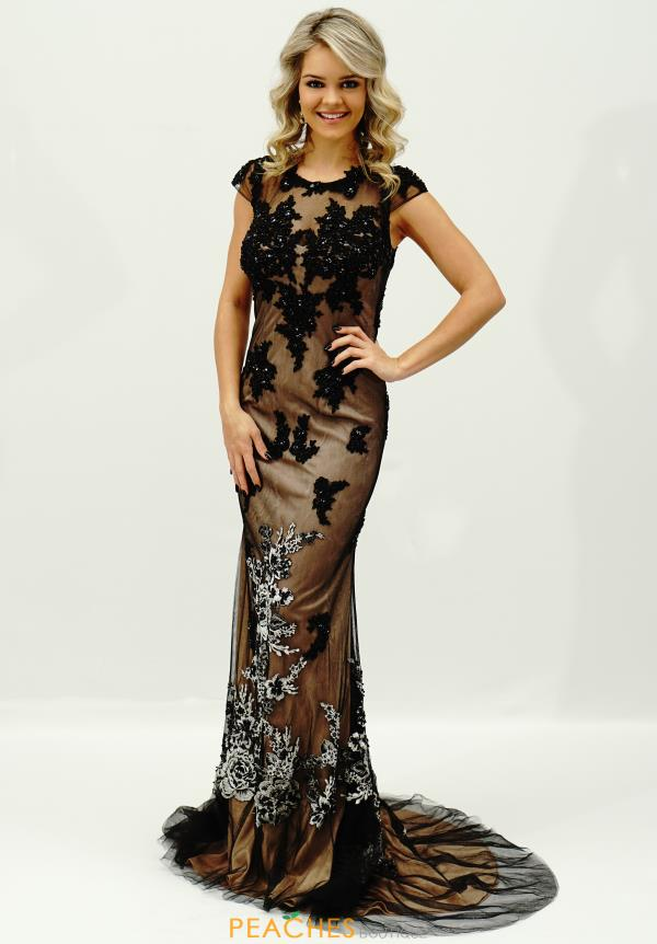 JVN by Jovani Fitted Applique Dress JVN20471