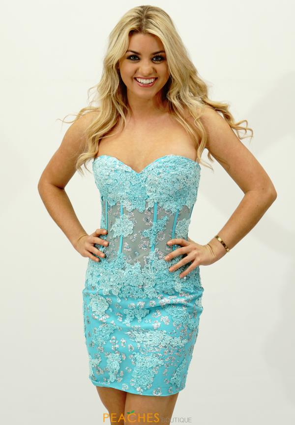 Sheer Bodice Jovani Homecoming Dress Style 79215