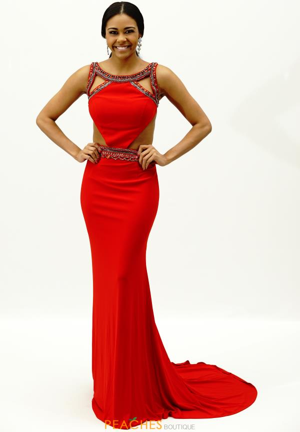 Sherri Hill High Neckline Prom Dresses 32140