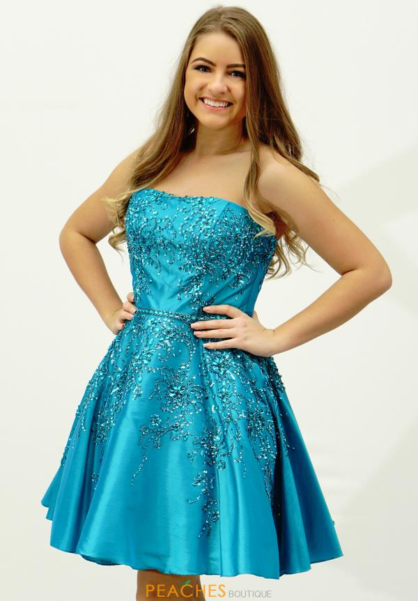 Strapless Sherri Hill Short Homecoming Dress 21362