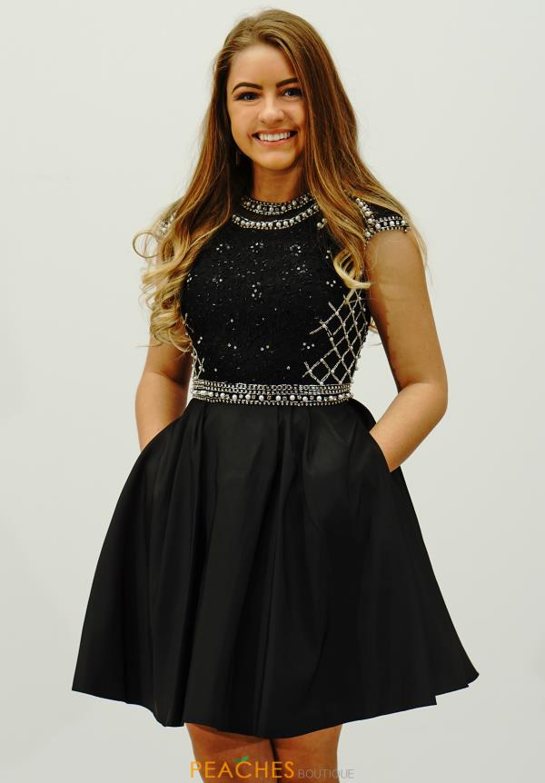 Sherri Hill Short Sleeved A Line Dress 32317