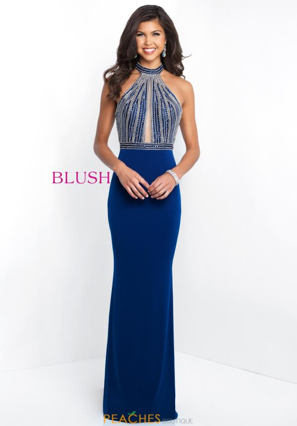 Blush Fitted Jersey Dress 11502