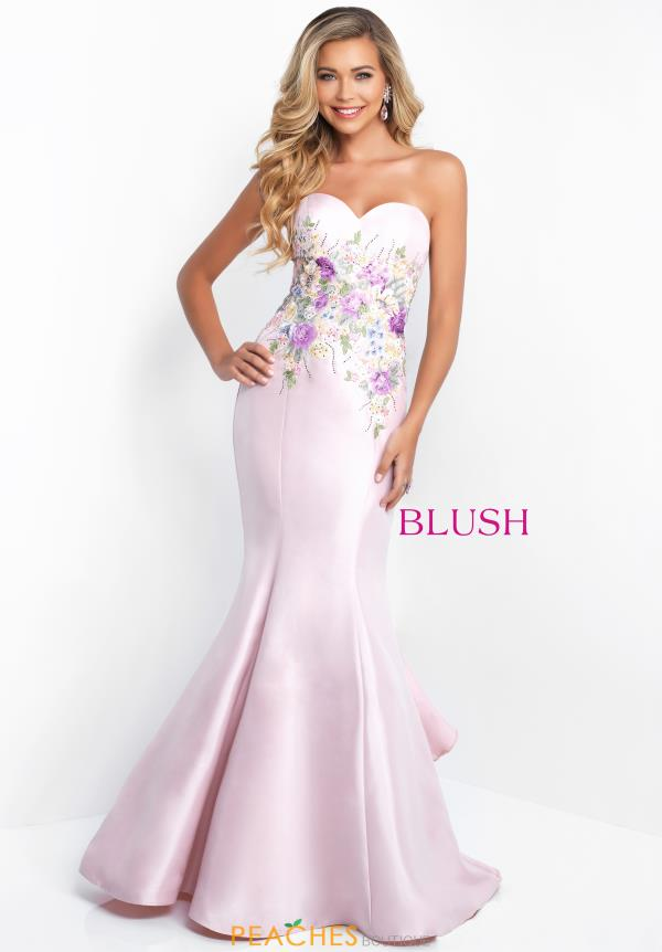 Blush Strapless Mermaid Dress 11505