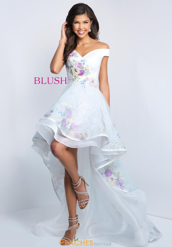Blush Cap Sleeved Floral Dress 11506