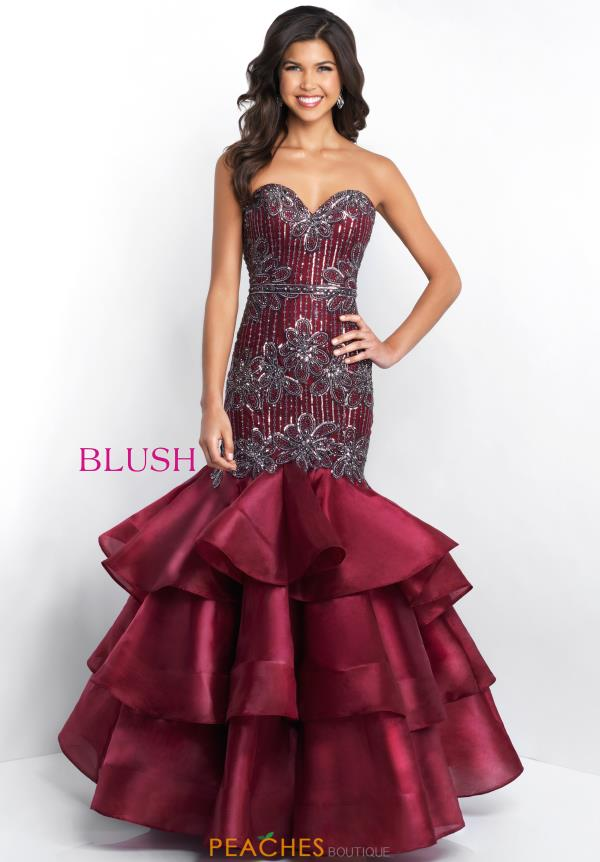 Blush Beaded Mermaid Dress 11517