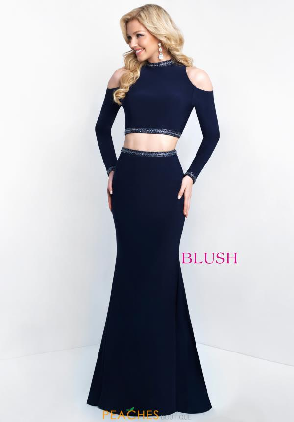 Blush Navy Fitted Dress 11527