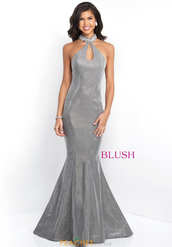 Blush Long Fitted Dress 11528