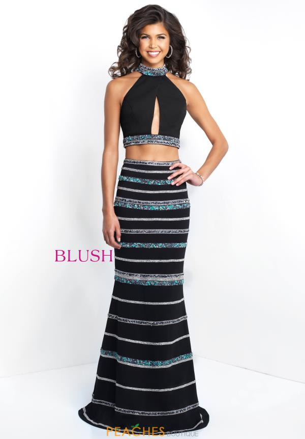 Blush Fitted Two Piece Dress 11530