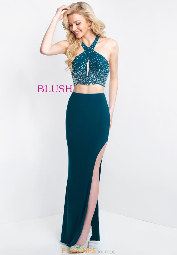 Blush Long Jersey Dress 11531