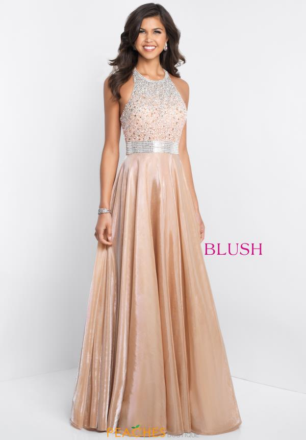 Blush Long Beaded  Dress 11539