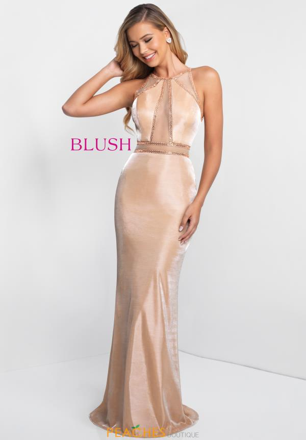 Blush Beaded Long Dress 11548