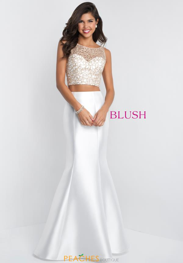 Blush Fitted Mermaid Dress 11550