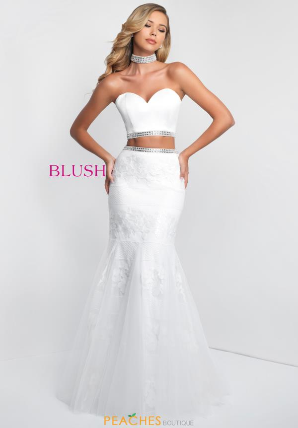 Blush Strapless Mermaid Dress 11557