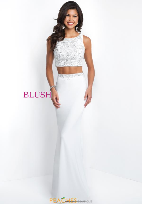 Blush Beaded Fitted Dress 11559
