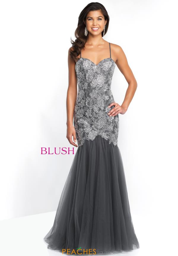 Blush Long Beaded Dress 11582