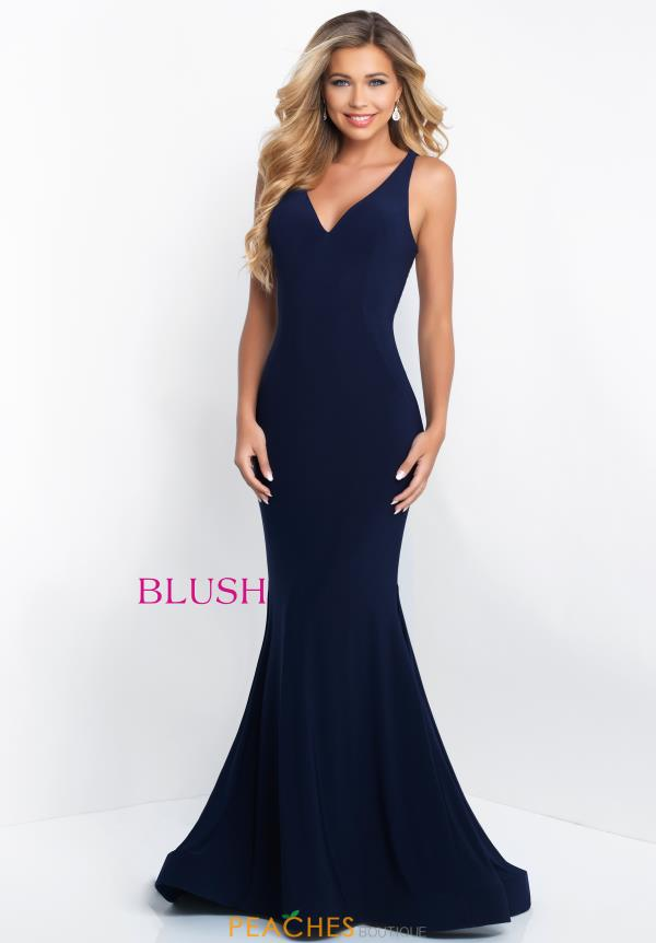 Blush V- Neckline Fitted Dress C1018