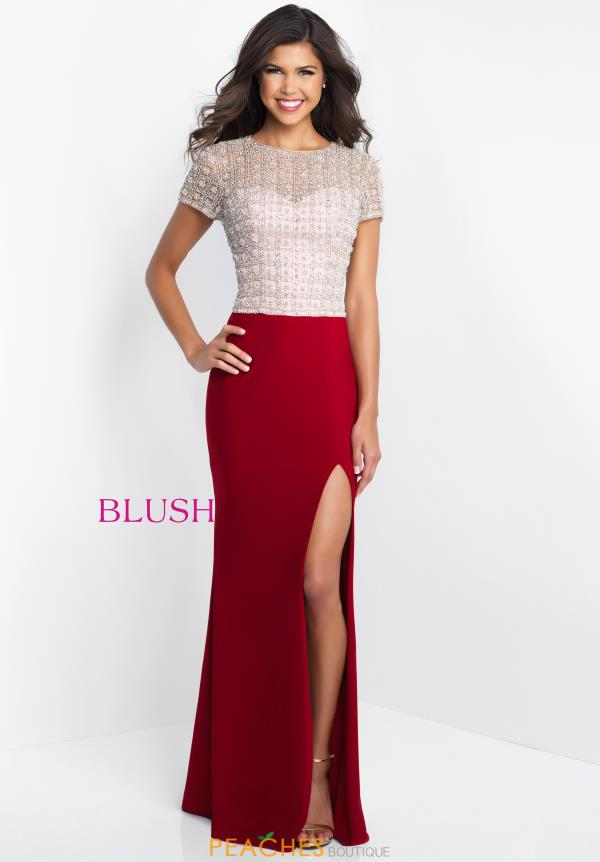 Blush Sleeved Fitted Dress C1020