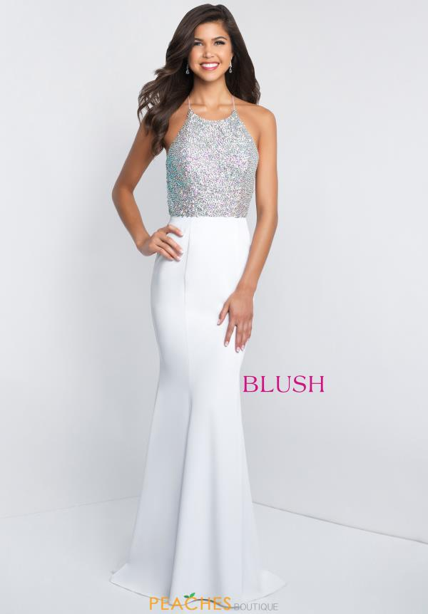 Blush Beaded Mermaid Dress C1030