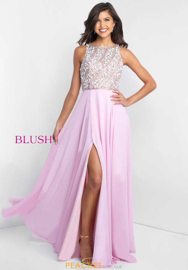 Blush Long A Line Dress C1034