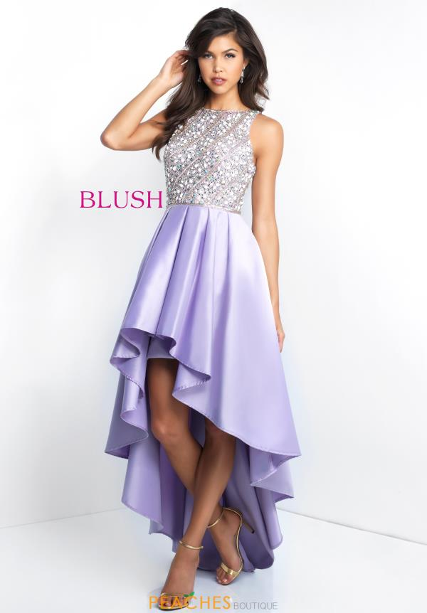 Blush High Neckline A Line Dress C1037