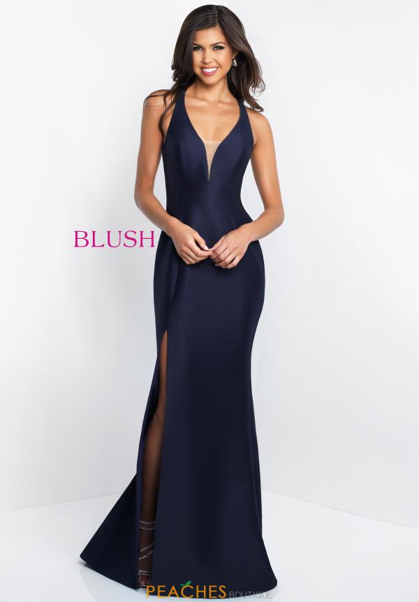 Blush V- Neckline Fitted Dress C1052