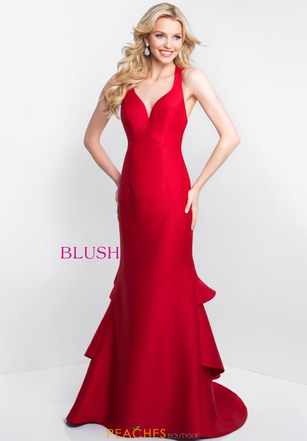 Blush Long Fitted Dress C1059